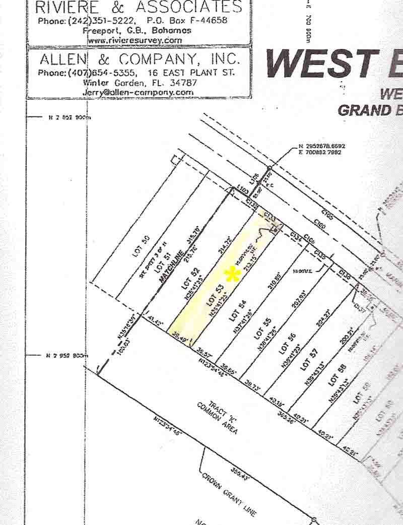 Grand Bahama vacant land for sale