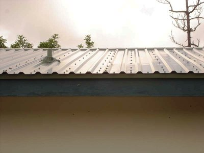Metal roof detail