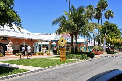 Main Entrance to Port Lucaya Marina and Marketplace in Freeport Bahamas